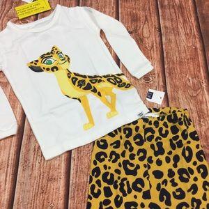 Baby Gap 6 12 Month Lion King Cheetah Pajamas